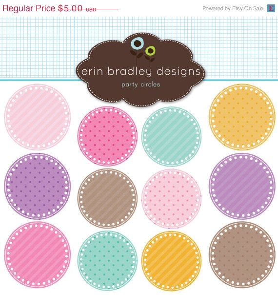 50% OFF SALE Digital Scrapbooking Clipart by ErinBradleyDesigns