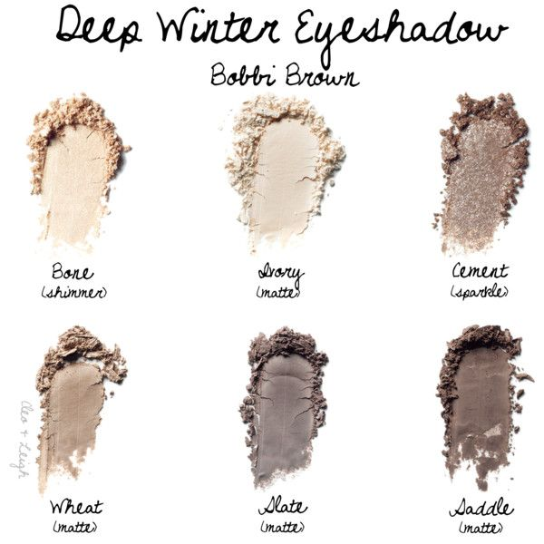 Deep Winter Eyeshadow:  Bobbi Brown by cleo-and-leigh on Polyvore featuring beauty