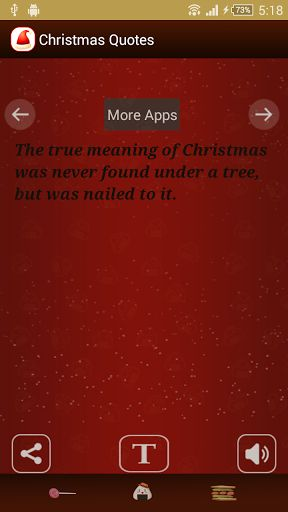 Christmas Quotes<p>Download free Christmas quotes app with quotes, the cool free apps in Play Store. Enjoy the best christmas app with high quality HD resources. Providing HD quality images in background that makes your android device more beautiful. <p>In this holiday season experience the look and feel of highly rated theme right there on your own smartphones. Share poems and christmas wishes for christmas 2014 by downloading this free christmas apps. This app is generally use to share…
