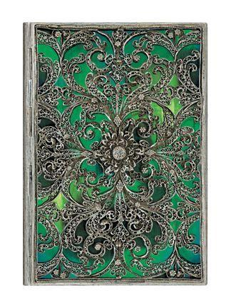 Notatnik Paperblanks Midi Silver Filigree Collection Esmeralda gładki Twoje Pióro - ekskluzywne artykuły piśmienne
