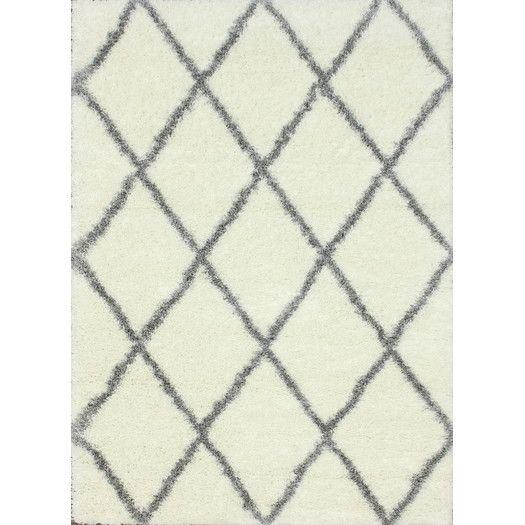 """nuLOOM Shag Black/White Plush Area Rug, 5'3""""x7'6"""", $247.99"""