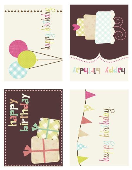 happy birthday printables birthdays pinterest. Black Bedroom Furniture Sets. Home Design Ideas