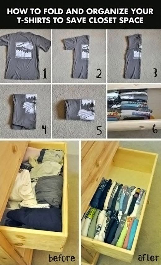Life hack to save space in your closet.