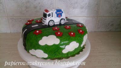 Papierowo zakręcona    : Tort Miraska