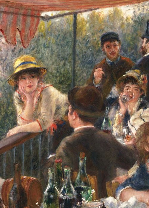 Auguste Renoir, Luncheon of the Boating Party (detail), 1880-1 (x)....One of my favorites :)                                                                                                                                                      Más
