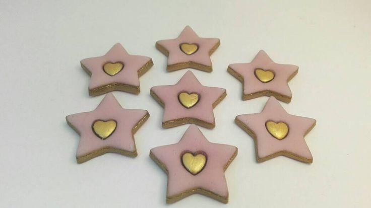 Stelle in pasta di mais dipinte amano     7 stelle di Amacreazioni su Etsy