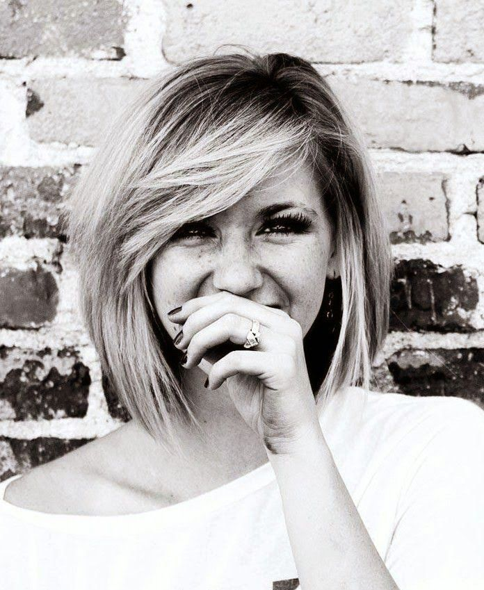 Shaggy Bob Hairstyle With Long Side Bangs - Girls SN - Fashion & Style