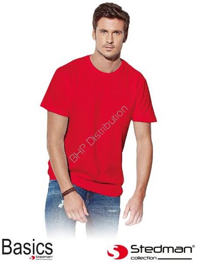 Czerwonyy t-shirt męski STEDMAN ST2000_SRE