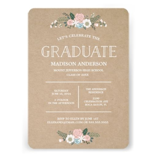 Sweet Floral | Graduation Invitation