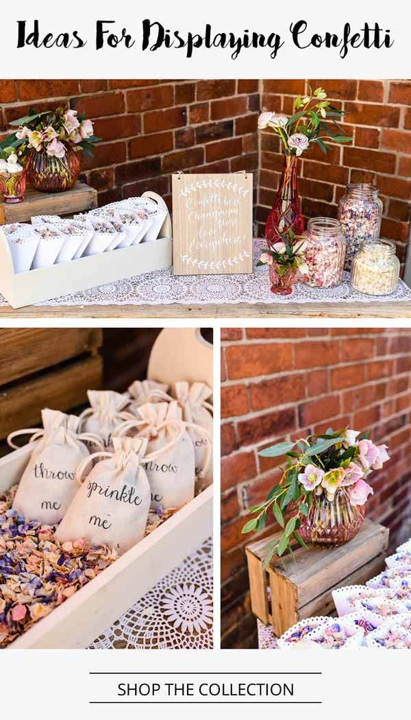 Ideas For Displaying Wedding Confetti – SHOP THIS LOOK