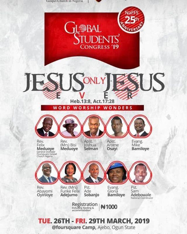 GSC 2019 WITH Apostle Joshua Selman Apostle Arome Osayi Evangelist