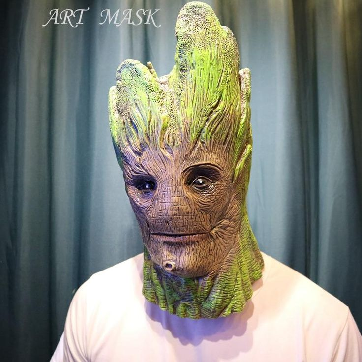 Guardians of the Galaxy Groot Latex Masks - Halloween Party Face Tree Man Mask