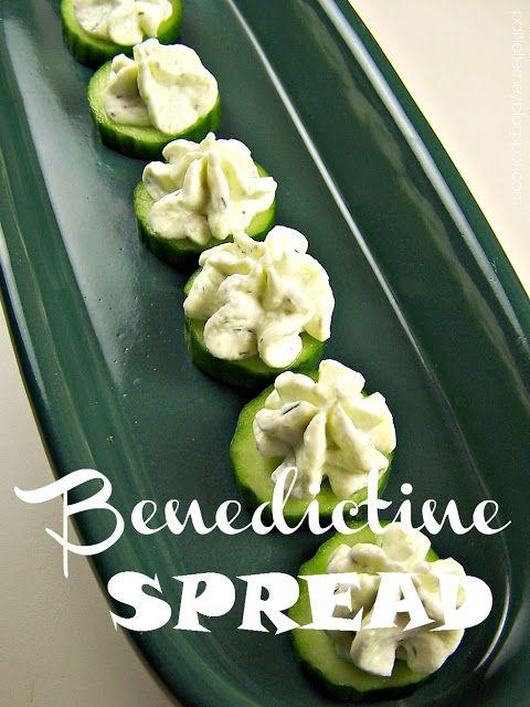 Benedictine Spread. It tastes like spring!