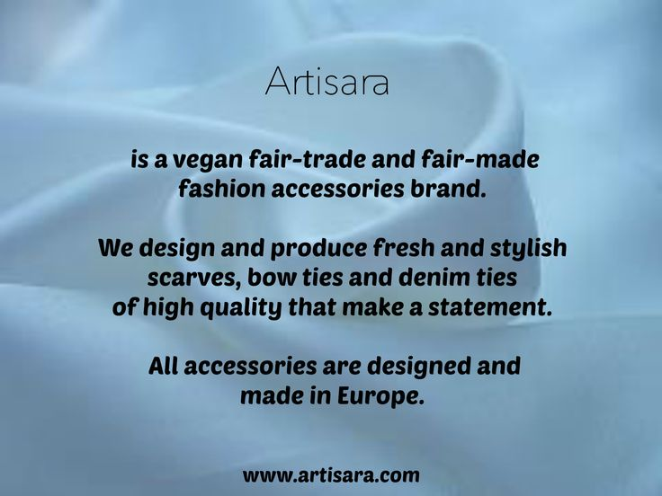 ARTISARA is about quality scarves, bow ties and ties that make a statement. www.artisara.com