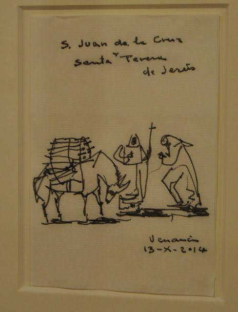 Venancio Blanco (2014) Santa Teresa y San Juan de la cruz. Arte en Valladolid: EXPOSICIÓN: VENANCIO BLANCO. Desayunando con el dibujo. V Centenario de Santa Teresa de Jesús