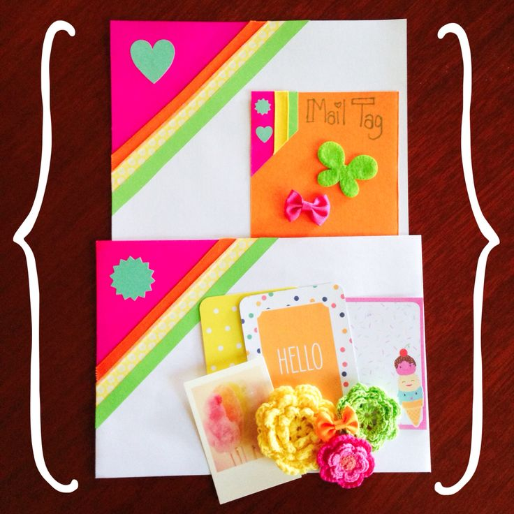Fluro themed snail mail. Find me on insta @cegould