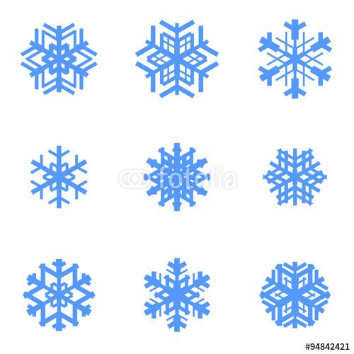 Vettoriale: Snowflakes vector set