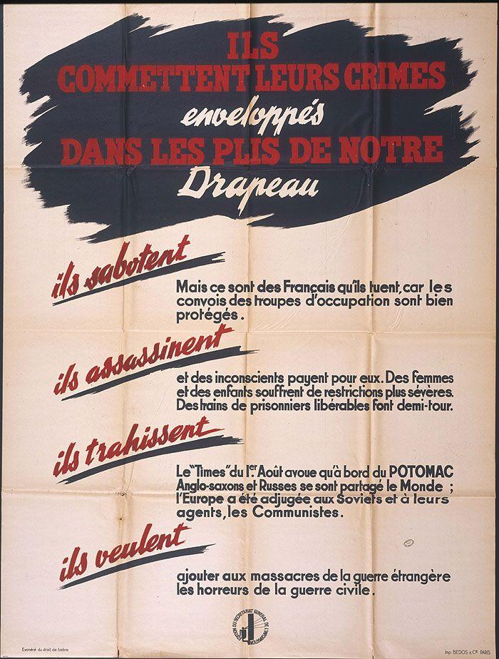 dénonciation (guerre, 14-18, occupation, France, propagande) vintage