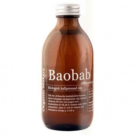 Ekologisk kallpressad baobabolja / Organic Baobab Oil - Organic Makers - http://www.organicmakers.se/shop/ekologiska-vegetabiliska-oljor/107-ekologisk-kallpressad-baobabolja.html