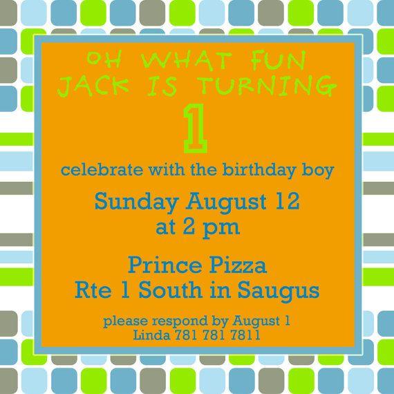 Birthday  Invite. 5x7 printable design by GoToGirlSignDesigns, $15.00