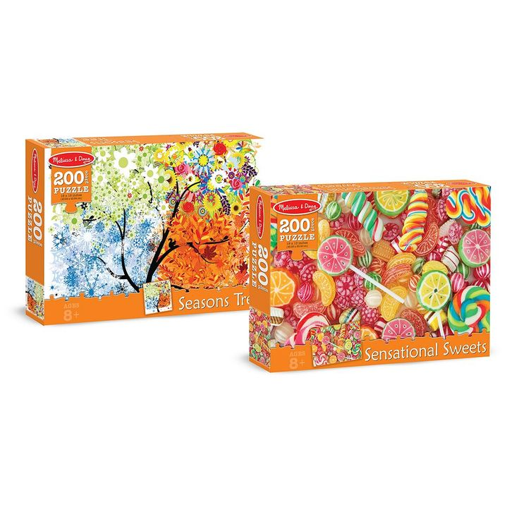 Melissa & Doug Sweets & Seasons 200-pc. Cardboard Jigsaw Puzzle Set, Multicolor