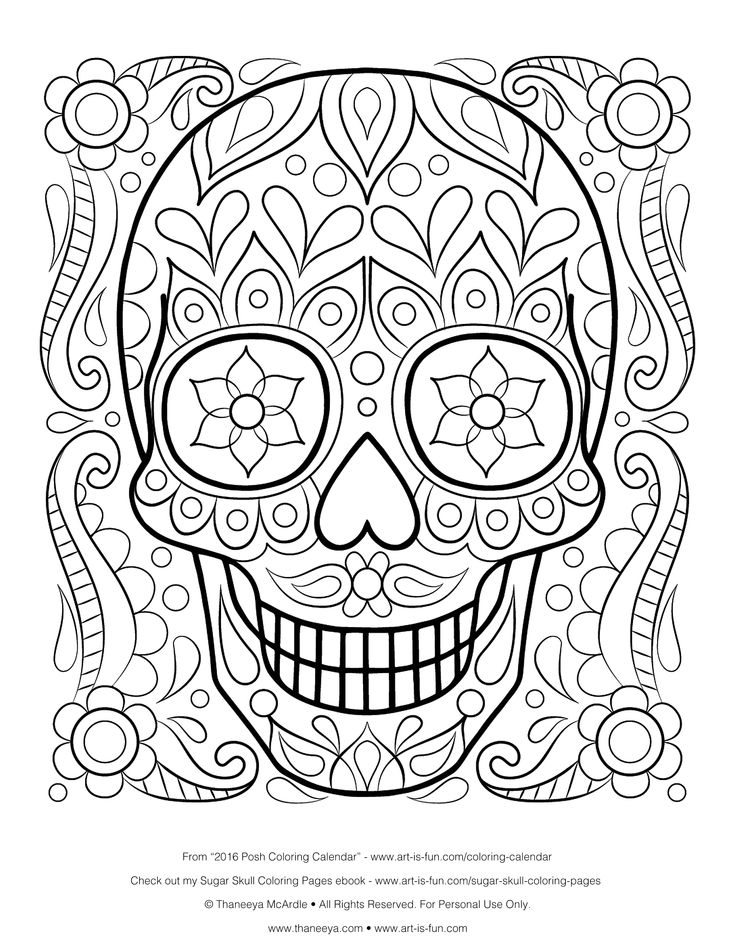 Coloring Pages For Adults Skull : 656 best adult coloring pages images on pinterest