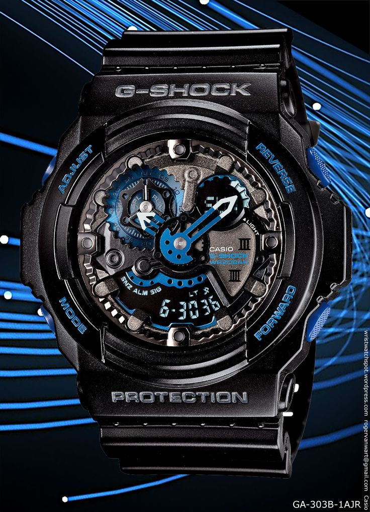 initial blue g-shock watch, GA-303B-1AJR – 20,000 yen 2013 30th anniversary limited special edition, eric haze, new watch casio