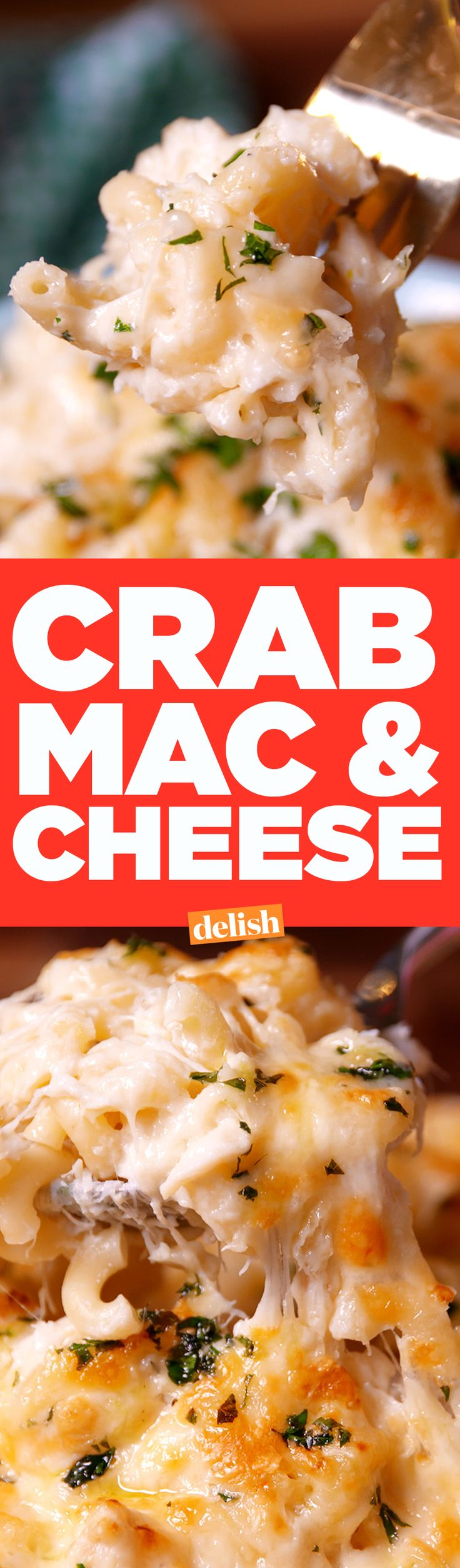 The only thing better than macaroni and cheese? Crab Mac & Cheese. Get the recipe on Delish.com.