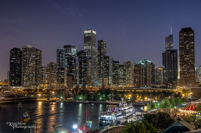 Chicago Skyline by kinchloe, via Flickr