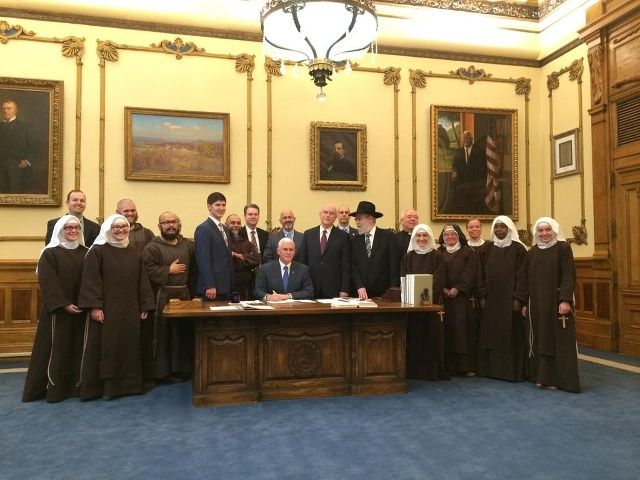 Indiana Governor Mike Pence signed a religious freedom bill into law
