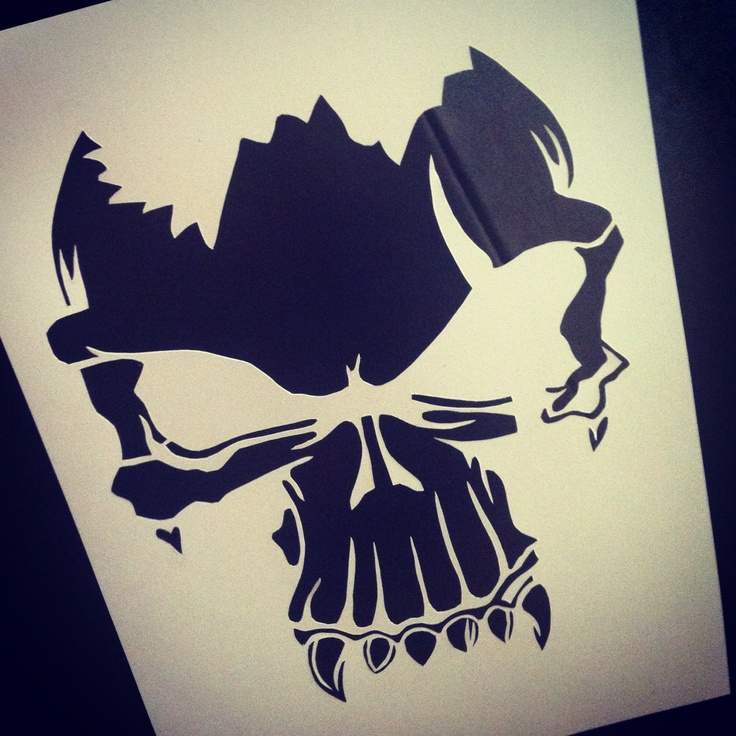skull tattoo paper cutting paper cutting pinterest
