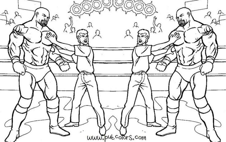 42 best wwe coloring pages images on pinterest