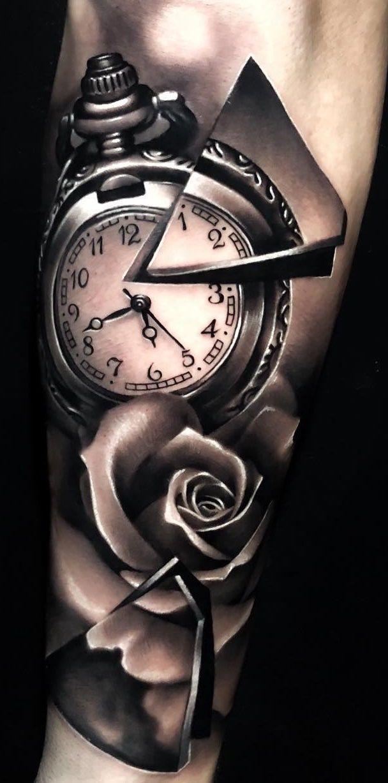100 männliche Tattoos auf dem Arm   – Uhren,Datum, – #Arm #auf #dem #männliche…