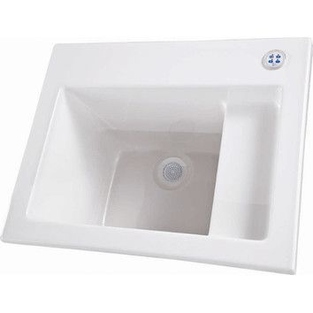 "Hydro Systems 26"" x 21"" Single Designer Delicate Touch Laundry Sink & Reviews 