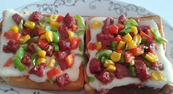 Tost Ekmeği İle Hızlı Pizza Tarifi