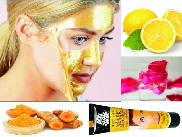 Homemade Gold Peel Off Mask for Glowing Skin | Rem…