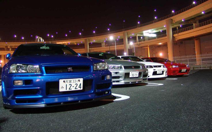Ниссан Скайлайн ГТР34 и ГТР33 Racing Nissan Skyline GTR 34 and Skyline G...