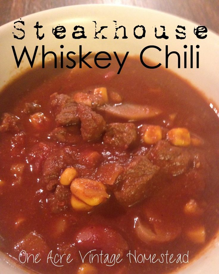 Steakhouse Whiskey Chile   – food