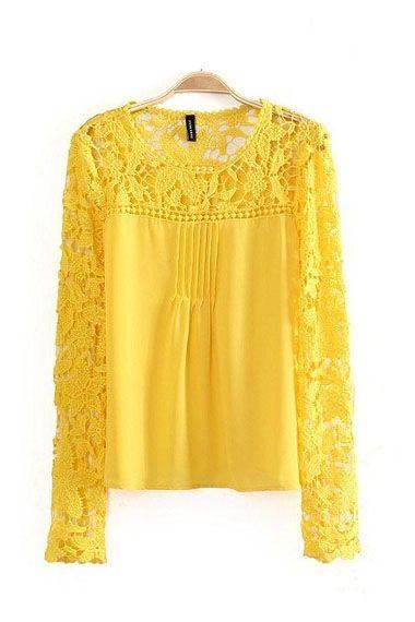Yellow Lace Blouse 107