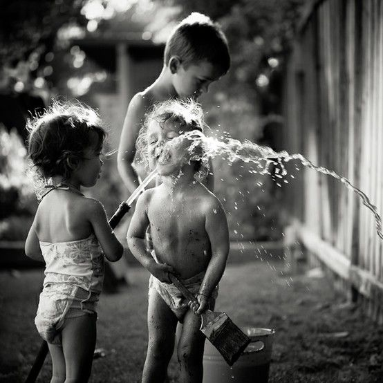 summer time as a kid... all you needed was a hose...