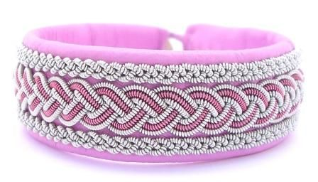 Bracelet from AC Design, here shown in Barbie pink leather!
