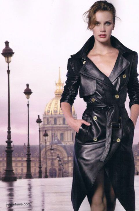Another ad for Yves Saint Laurent Parisienne, with Marine Vacth.  I've met this girl and she is impossibly lovely.