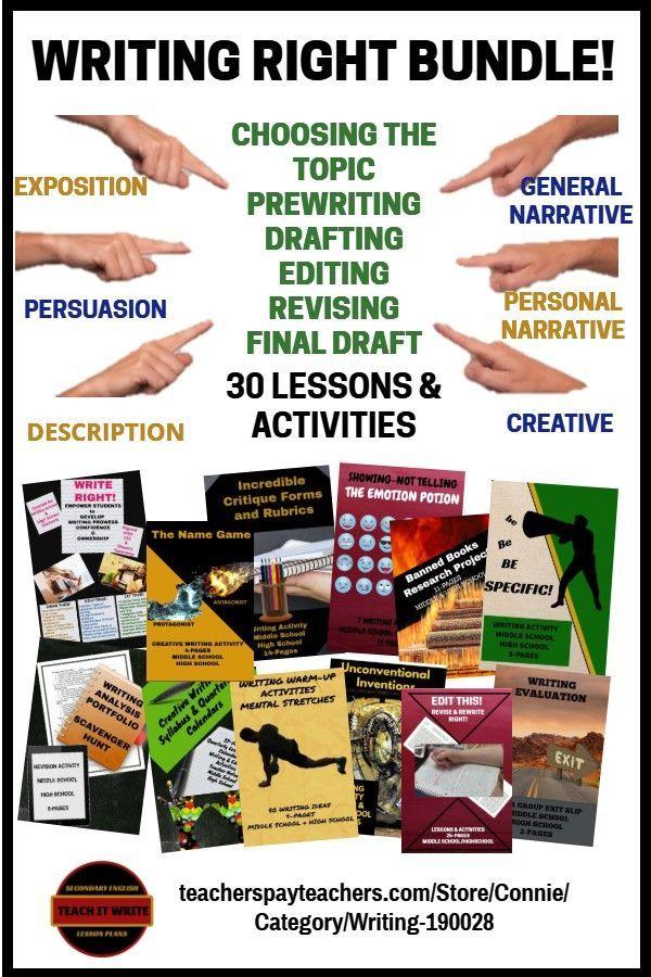 Writing Right Bundle Writing Evaluation Writing Ela Writing