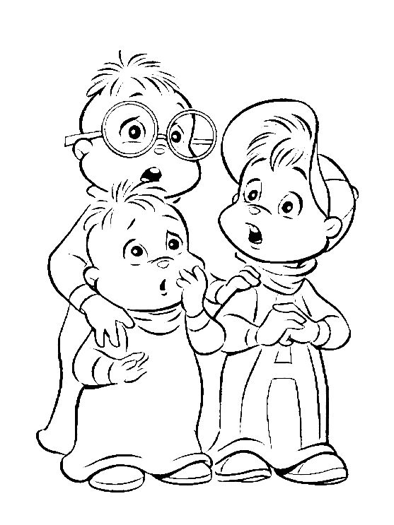 Mejores 16 imágenes de Alvin and the Chipmunks Coloring Pages en ...