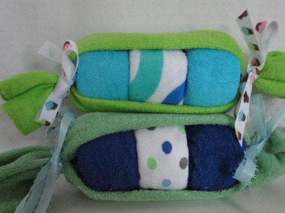 Peas in the Pod Baby Washcloths - Baby Shower Favor - Baby Gift Idea