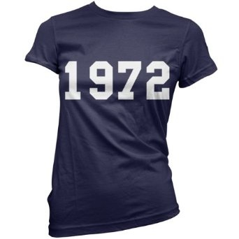 1972 College Style - Womens 40th Birthday Present / Gift T-Shirt - 11 Colours