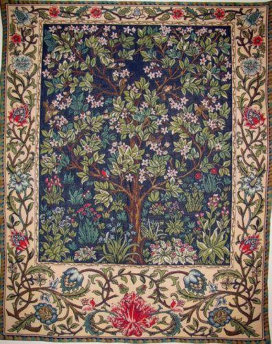 4x6 Rugs The Tree of Life tapestry wallhanging William Morris wall tapestries