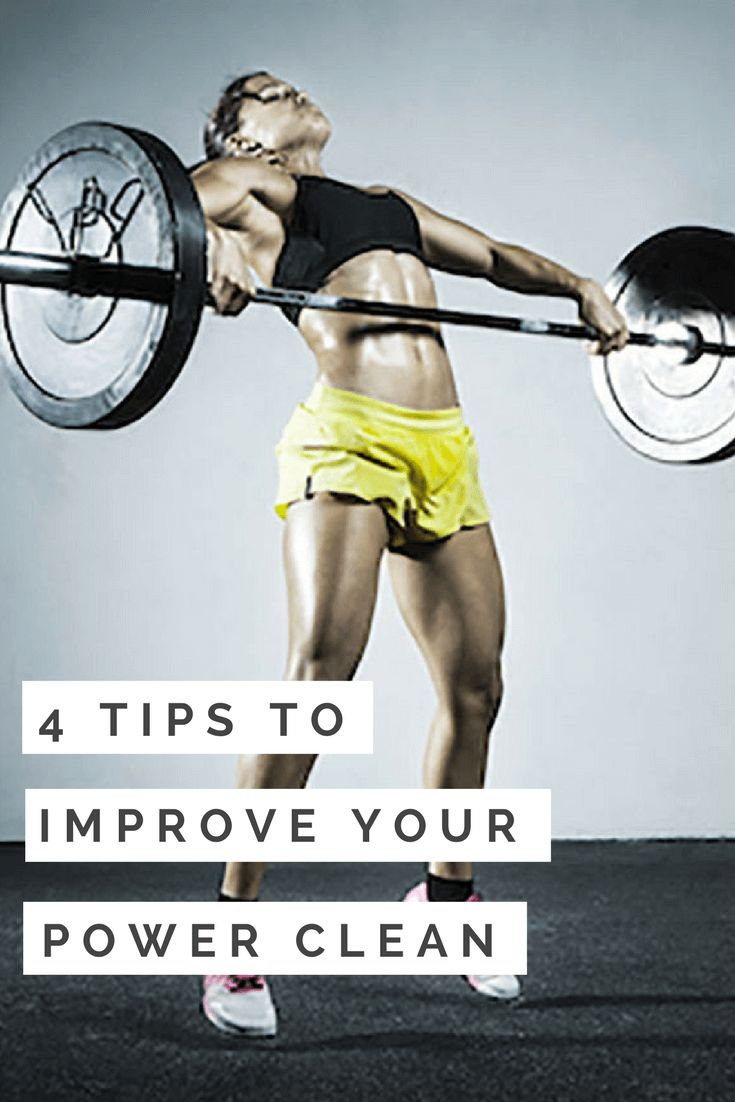 4 Tips to Improve Your Power Clean #CrossFit