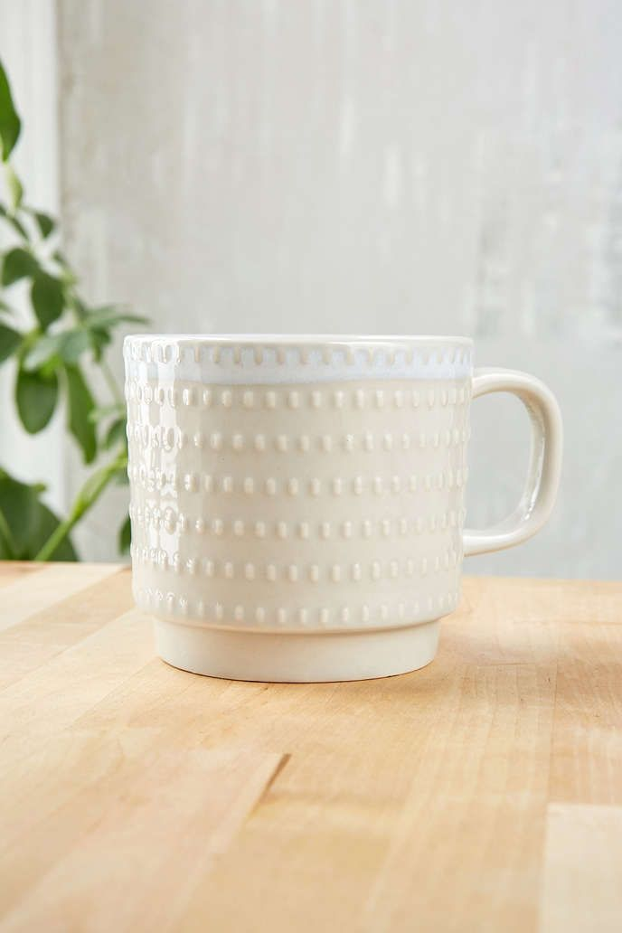 Embossed Ceramic Mug | Urban Outfitters Ceramic Mugs And Awesome Stuff