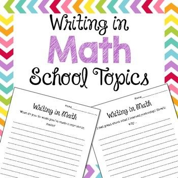 These writing in math prompts allow students to have a way of expressing and practicing critical writing skills in math class. Why should I write in math class?Critical writing is an important part of any subject area. Critical writing requires students to think not only about the how of a topic, but the why as well.